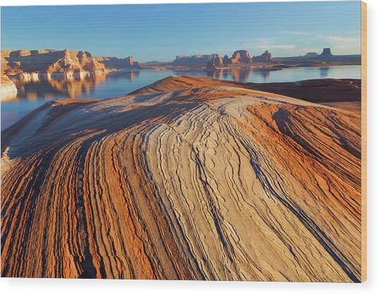 Utah Weathering Pit Ridge At Lake Wood Print by Jaynes Gallery