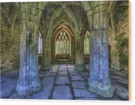 Valle Crucis Wood Print