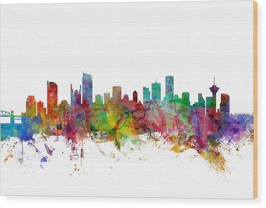 Vancouver Canada Skyline Wood Print