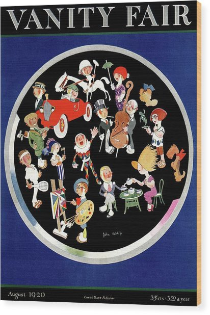 Vanity Fair Cover Featuring Caricatures Doing Wood Print