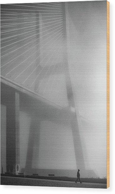 Vasco Da Gama Bridge - Lisbon Wood Print