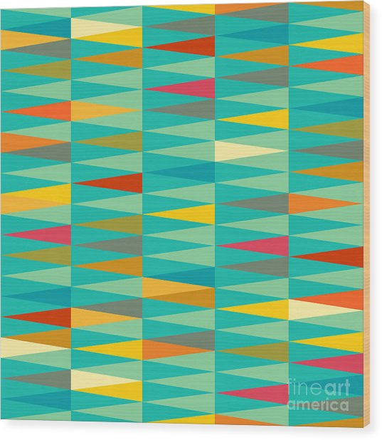 Vector Abstract Geometric Triangle Wood Print