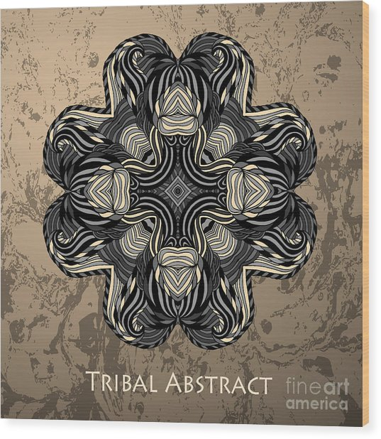 Vector Tribal Abstract Element For Wood Print