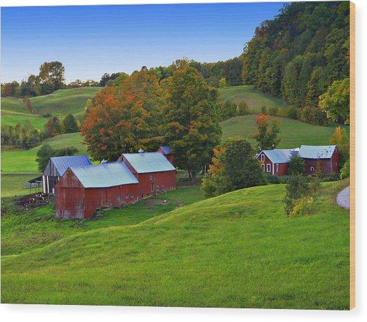 Vermont's Jenne Farm Wood Print