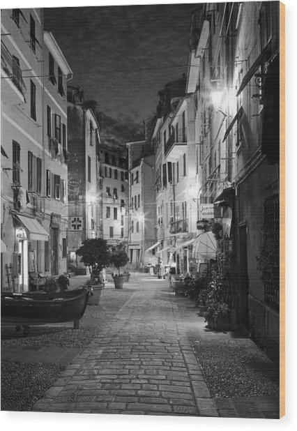 Vernazza Italy Wood Print by Carl Amoth