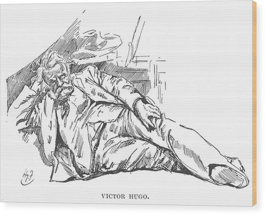Victor Hugo  French Novelist Wood Print by Mary Evans Picture Library