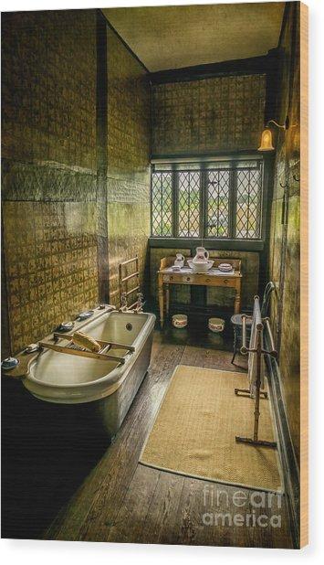 Victorian Wash Room Wood Print