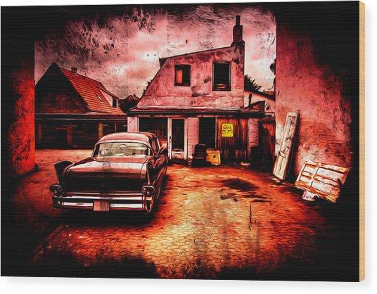 Vintage Grunge Background Wood Print by Kasper Nymann