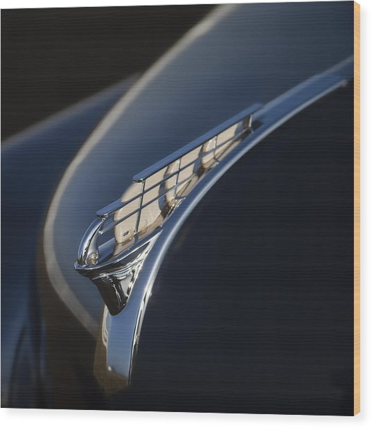 Vintage Plymouth Hood Ornament Wood Print