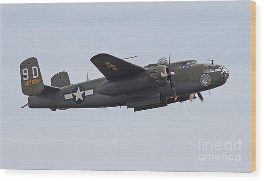 Vintage World War II Bomber Wood Print