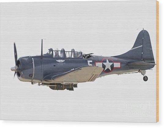 Vintage World War II Dive Bomber Wood Print
