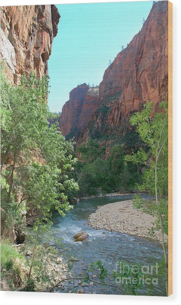 Virgin River Rapids Wood Print