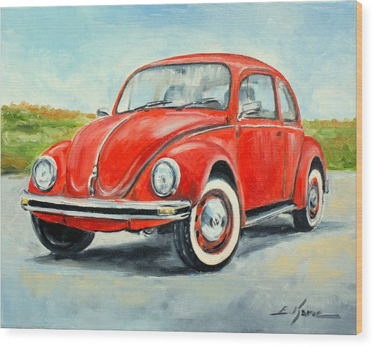 Vw Beetle Wood Print
