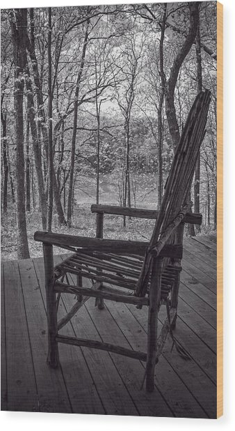 Waiting For Spring Wood Print