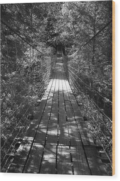 Walk Through Woods Wood Print