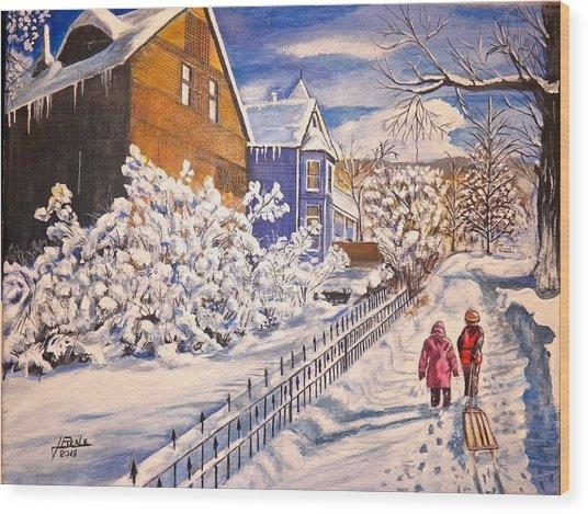 Walking Home Wood Print by Jim  Reale