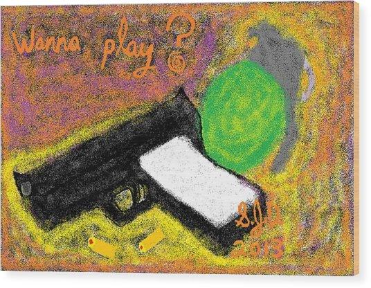 Wanna Play? Wood Print by Joe Dillon