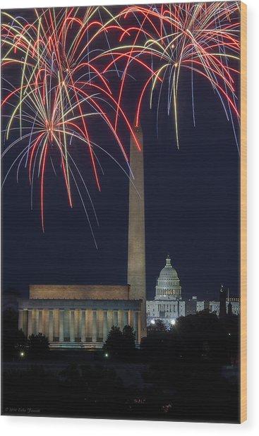 Washington Dc Fourth 3 Wood Print