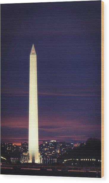 Wood Print featuring the photograph Washington Monument by Cindy Lark Hartman