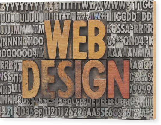Web Design Wood Print