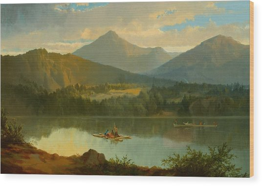 Western Landscape Wood Print