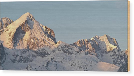 Wetterstein Mountain Range In Winter Wood Print