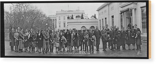 White House Reception, American Opera Wood Print