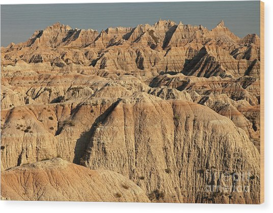 White River Valley Overlook Badlands National Park Wood Print