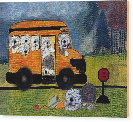 Wigglebottom Bus Wood Print