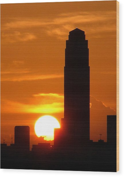 Williams Tower Sunset Wood Print