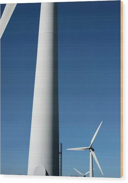 Wind Turbines Wood Print by Robert Brook