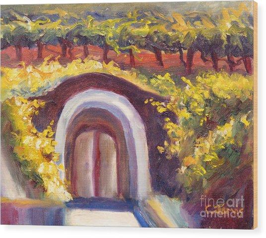 Wine Cave Wood Print