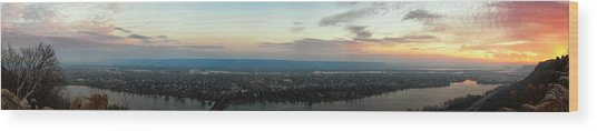 Winona Sunrise Panorama Wood Print