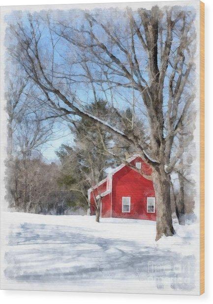 Winter In Vermont Wood Print