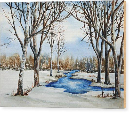 Winter Respite Wood Print