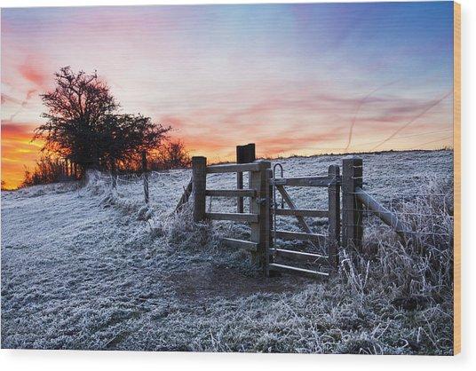 Winter Sunrise Wood Print by Graham Custance