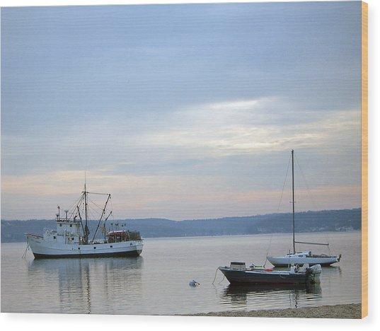 Wolf Larsen Boat Wood Print
