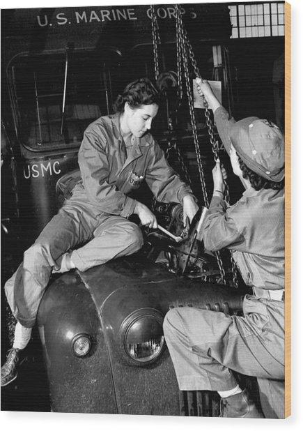 Women Marines, 1943 Wood Print
