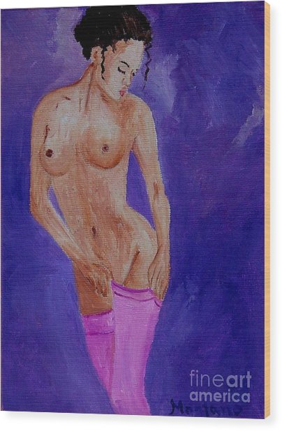 Women Nude Wood Print by Inna Montano