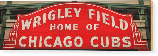 Wrigley Field Sign Wood Print