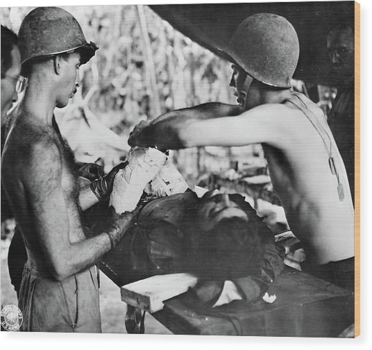 Wwii New Guinea, C1943 Wood Print by Granger