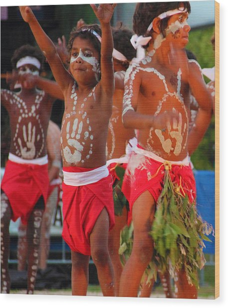 Wood Print featuring the photograph Yarrabah Boys by Debbie Cundy