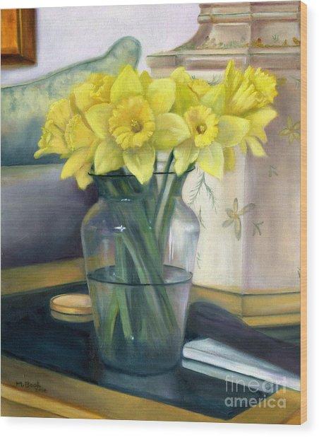Yellow Daffodils Wood Print