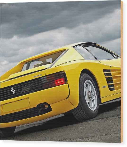 Yellow Fever - Ferrari Testarossa Square Photograph by Gill Billington