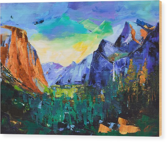 Yosemite Valley - Tunnel View Wood Print