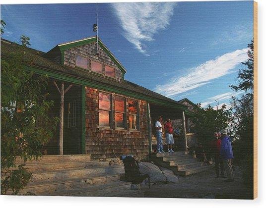 Zealand Falls Hut Wood Print
