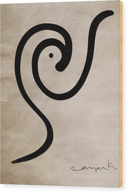 Zen Bird Wood Print