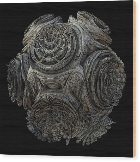 3d Fractal Wood Print