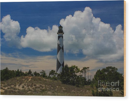 Cape Lookout Lighthouse Wood Print