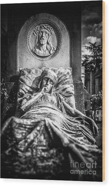 Cemetery Of Mantova Wood Print